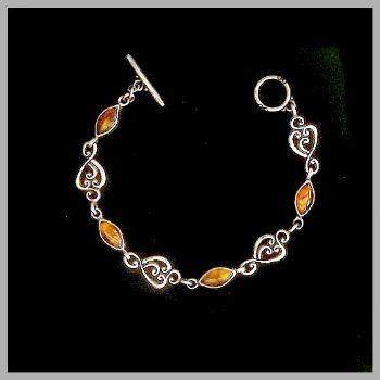 Bali Amber Leaf Bracelet